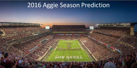 2016 Aggie Season Prediction