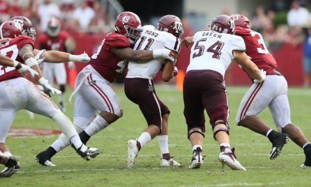 Mond Alabama Getting tackled
